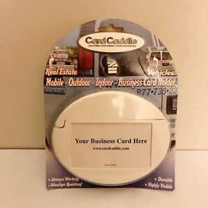 White Car Card Caddie Outdoor Indoor Business Card Holder New Made In Usa