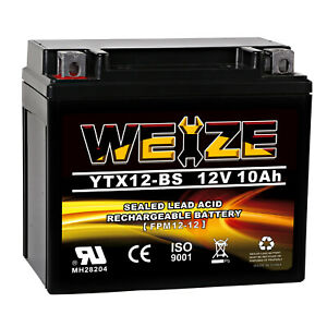 Weize Ytx12 bs High Performance maintenance Free sealed Agm Motorcycle Battery
