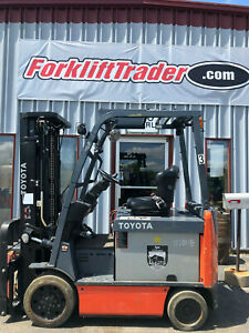 2013 Toyota Electric 6000 Lb Forklift 8fbcu30 With Non Marking Tires
