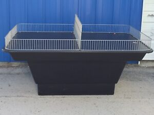 Heavy Duty Large Commercial Retail Grocery Display Merchandise Table bin