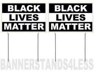 8x12 Inch Black Lives Matter Yard Sign With Stake Kb 2 Pack