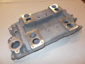 Offy Offenhauser Sbc 4 Deuce Intake Manifold For Rochester Carbs
