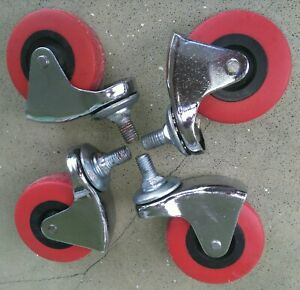 Replacement Swivel Caster Wheels Set Of 4 Stem Amps Dolly Hand Truck Cast Wheel