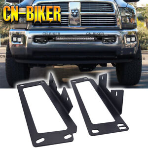Hidden Bumper Led Fog Light Pod Mount Bracket Kit For 10 19 Dodge Ram 2500 3500