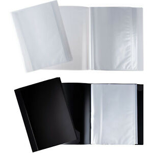 4 pack Display Book W 40 pocket Sheet Protector Portfolio Folder For Document