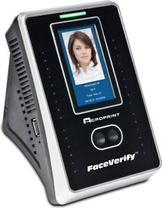 Acroprint Timeqplus Faceverify Ethernet Time Clock 250 Employees new r652