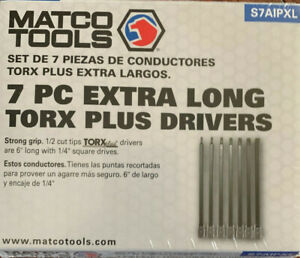 Sealed Matco 1 4 Drive 7pc Torx Plus Extra Long Hex Drivers S7aipxl