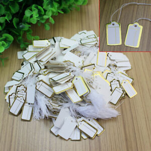 500x Labels Tie String Strung Price Tickets Jewelry Watch Cloth Display Tags Zxc