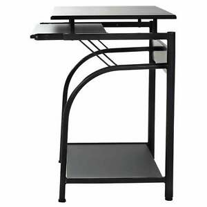 50 1001 Stanton Computer Desk With Pullout Keyboard Tray Black Small