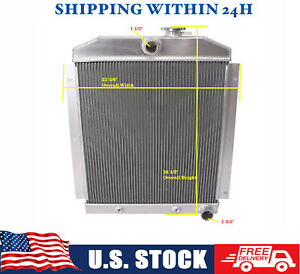 Aluminum Radiator For 1947 1954 Chevy Chevrolet 3100 3600 3800 Truck 3row