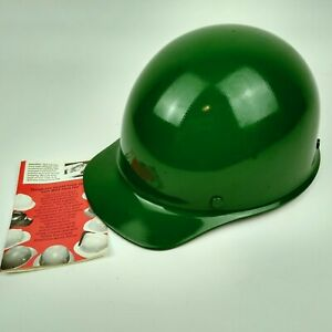 Msa Skullgard Hard Hat Green Vintage With Suspension Usa