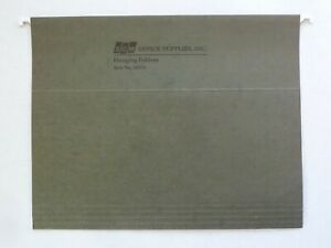 Lot Of 125 Hanging File Folders Letter Size Green Excellent Condition