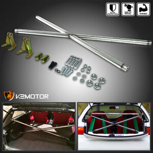 For 92 95 Honda Civic 3 Door Hatchback Eg Jdm Rear X Cross Strut Bar Cx Dx Hatch