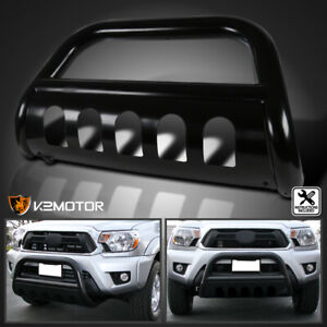 For 2005 2015 Toyota Tacoma Black Stainless Steel Grille Bumper Guard Bull Bar