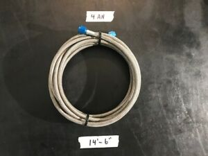 Nos 14 6 4an Braided Stainless Steel Nitrous Line Pipe Trunk Nx Express