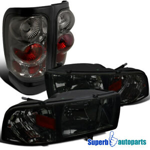 For 1994 2001 Dodge Ram 1500 2500 3500 Headlights Tail Brake Lamps Smoke