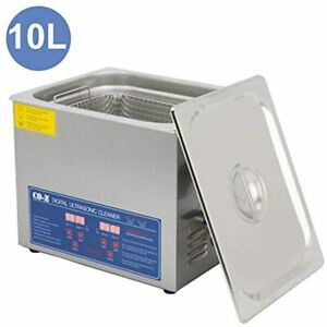 Co z Professional 10l Ultrasonic Cleaner Timer Digital For Cleaning Jewelry amp