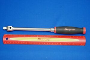 New 2018 Snap On Tools 3 8 Drive 13 Red Soft Grip Handle Breaker Bar Fhbb12a