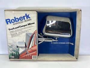 Rare Vintage Roberk 729 Advanced Design Extendable Truck And Van Mirror Chrome
