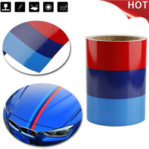 5ft 15m Car M Colored Door Body Decorative Stripe Sticker Decal Vinyl For Bmw Fits Bmw M