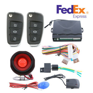 One way Car Anti theft Device Alarm System W flip Key Remote Control Car Finding