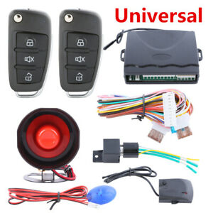 Car One way Anti theft Device Door Locking Keyless Entry Remote Alarm System