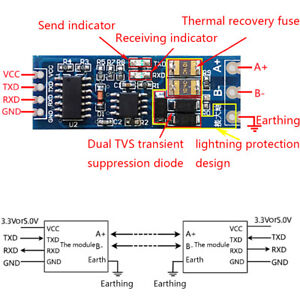 Stable Uart Serial Port To Rs485 Converter Function Module Rs485 To Ttl Modu Nhh