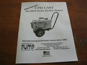 General Pump Ct 63 Cart Only For 6334 Series Hydrostatic Test Pumps