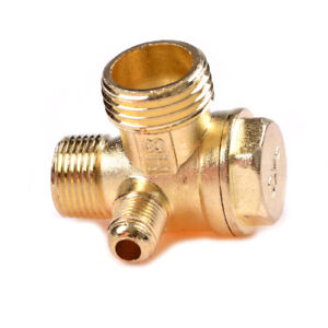 Air Compressor 3 port Brass Male Threaded Check Valve Connector Tool T ushh