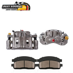 Front Oe Brake Calipers Pair Ceramic Pads For Eagle Talon Mitsubishi Eclipse