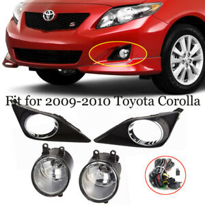 For 2009 2010 Toyota Corolla Clear Glass Lens Fog Driving Light switch harness