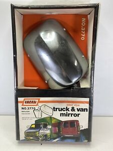 Vintage Rosco No 3770 Chrome Side Mirror Ford Chevrolet 9 3 4 X 7 Truck Van