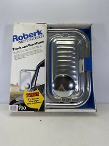 Rare Vintage Roberk 700 Chrome Western Design Truck And Van Mirror New Old Stock