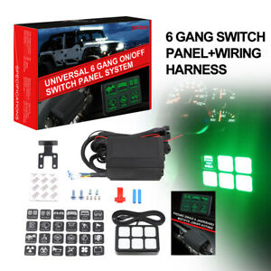 6 Gang Switch Panel Circuit Control Box Relay System wiring Atv Utv Boat Marine