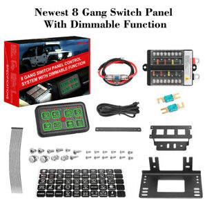 8 Gang Switch Panel W Dimmable Electronic Relay System 12v 24v Car Boat Marine