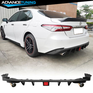 Fits 18 20 Toyota Camry Le Xle Rear Bumper Lip Diffuser 3rd Brake Light Tip Pp