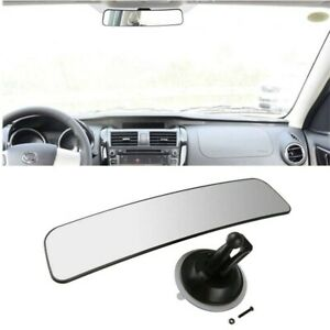 Universal 290mm Rear View Mirror Glass Suction Cup Stick For Car Truck Bus Usa
