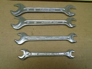 Vintage Heyco 4 piece Wrench Set Din 895 Mercedes benz Germany Tool Kit Nice