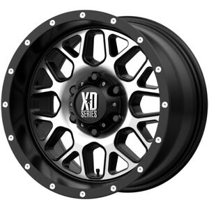 4 xd Series Xd820 Grenade 17x9 6x5 5 12mm Black machined Wheels Rims 17 Inch