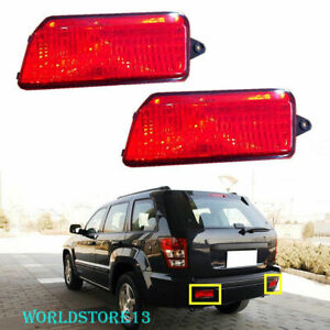 Fits 2005 2009 Jeep Grand Cherokee Rear Fog Lamp Reflector Housing Light Cover