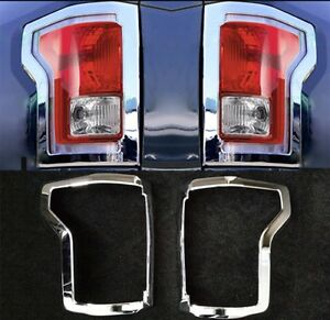 Chrome Taillight Cover Fit Ford F 150 2015 2017 Rear Trucks Lamp Accessories
