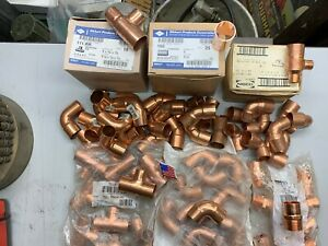 105 1 Nibco Epc Mueller Lee Copper Pipe Solder Fittings new made In Usa