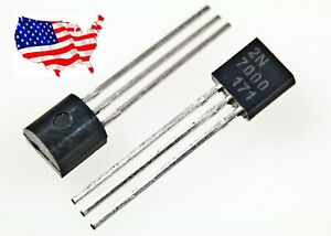 2n7000 10 Pcs N channel 60v 200ma E Mosfet From Usa