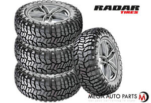 4 New Radar Renegade R T 33x11 50r20lt 118q 10pr All Terrain Jeep Truck Suv Tire