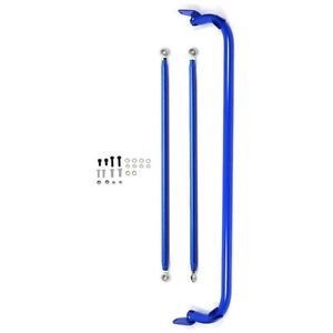 49 Stainless Steel 4 5 6 point Racing Safety Seat Belt Roll Harness Bar Blue