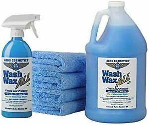 Wet Or Waterless Car Wash Wax Kit 144 Ounces Aircraft Quality For Your Rv Boat