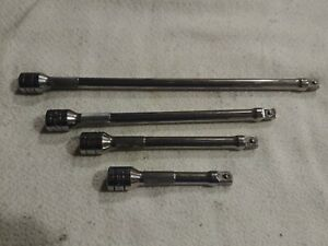 Snap On 3 8 Drive Chrome Knurled Extension 4pc Set Fxk11 Fxk8 Fxk6 Fxk4