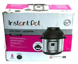 Read Genuine Instant Pot Duo Crisp Air Fryer 11 in 1 Multi Pressure Cooker 8qt