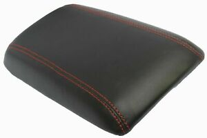 W red Stitch Real Leather Center Console Lid Armrest Cover Fit 04 06 Pontiac Gto