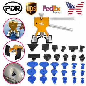 Pdr Tools Car Paintless Hail Removal Dent Repair Kit Glue Puller Lifter Tabs